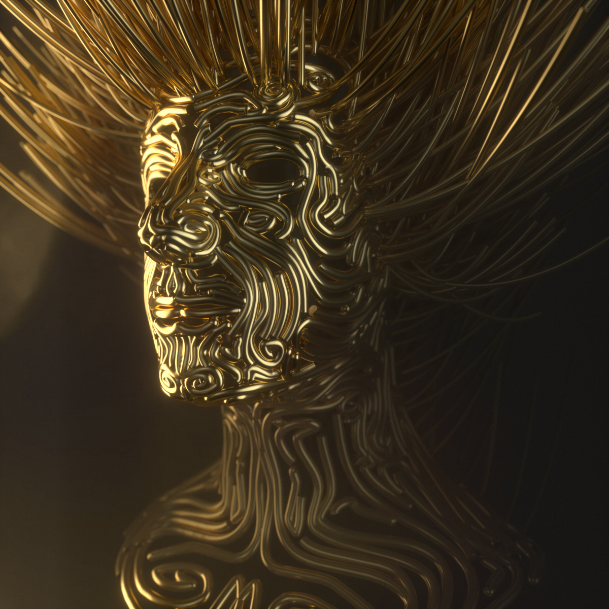 Golden Spline Head